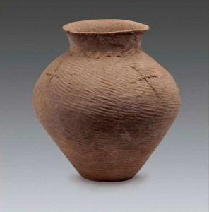 篮纹红陶罐